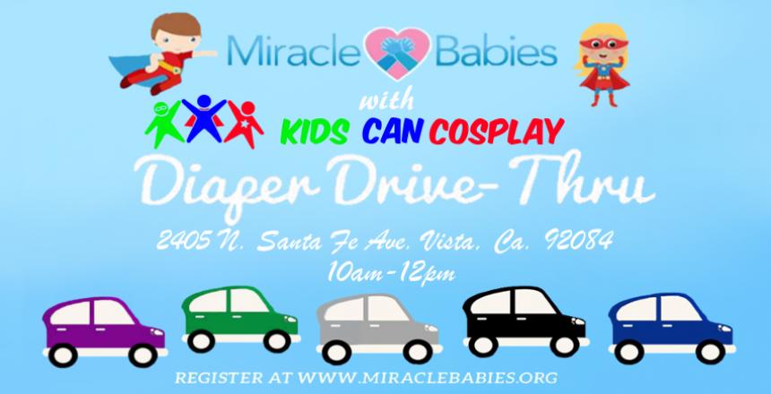 Miracle Babies Diaper Drive-Thru 2020 Vista Ca.